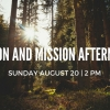 Vision and Mission Afternoon Sunday August 20